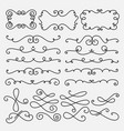 collection of hand drawn decorative calligraphic vector image vector image