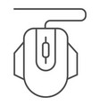 computer mouse thin line icon click vector image vector image
