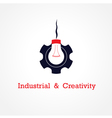 Creative light bulb and gear abstract vector image vector image