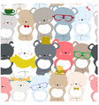 cute baby colorful ceebrated silly teddy bear vector image vector image