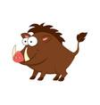 cute cartoon boar isolated on vector image vector image
