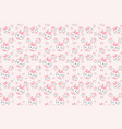 cute pink rabbit cartoon pattern vector image