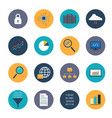 data analysis icons set vector image vector image
