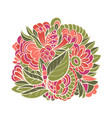 decorative element with flowers vector image