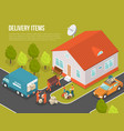 delivery moving new settler vector image vector image