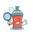 detective aerosol spray can character cartoon vector image vector image