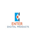 digital products icon for web technology company vector image vector image
