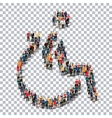 disabled people sign 3d vector image vector image