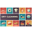 dry cleaning - set of flat design infographics vector image vector image