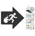 Fire Exit Icon With 2017 Year Bonus Pictograms vector image vector image
