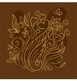 Floral Art Line vector image vector image