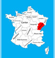 french comte map france map vector image vector image
