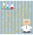 Game for children - helping scientist vector image vector image