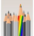 gay different pencil vector image