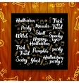 Halloween Greeting Calligraphy vector image vector image