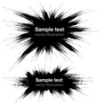 Hand Drawn Grunge Black Banners vector image vector image