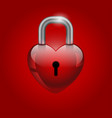 heart lock valentines day icon vector image vector image