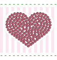 Heart with roses card vector image
