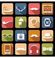 Hipster Icons Flat vector image vector image