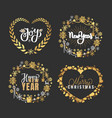 holly jolly quote merry year holiday vector image vector image