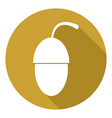 icon acorn with a long shadow vector image vector image