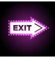 Illuminated arrow shaped 3D exit sign vector image vector image