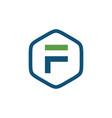 initial f hexagon logo vector image vector image