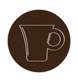 isolated coffee mug icon on a label vector image vector image