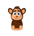 isolated cute monkey on white background vector image vector image