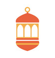 lantern decoration ramadan arabic islamic vector image