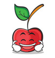 laughing cherry character cartoon style vector image vector image