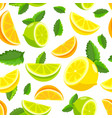 lemon and lime lemonade seamless pattern vector image vector image