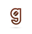 Letter G coffee logo icon design template elements vector image vector image