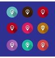 map navigation icons vector image