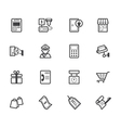 market store black icon set on white background vector image
