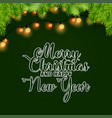 merry christmas and happy new year light and vector image