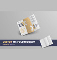 mockup realistic business brochure front view vector image vector image