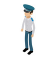 officer icon isometric 3d style vector image vector image
