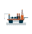 Oil Factory Platform on Water vector image vector image