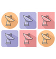 outlined icon of radar telescope with parallel vector image vector image