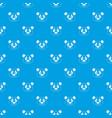 panda pattern seamless blue vector image vector image