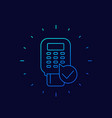 pos terminal payment icon thin line vector image vector image