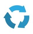 recycle arrows icon vector image vector image