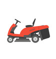 red lawnmower vector image vector image