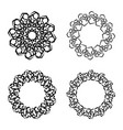 round frames or circle black and white vector image