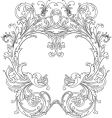 royal ornate frame vector image vector image