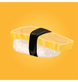 Sashimi with omelette Japanese food vector image