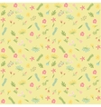 Seamless floral pattern Flowers texture vector image vector image