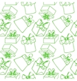 Seamless pattern with gift boxes vector image vector image