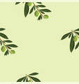seamless pattern with olive trees vector image